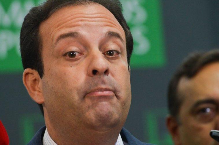 Brasília - O deputado André Moura se anuncia como líder do governo em coletiva na Câmara (Antônio Cruz /Agência Brasil)