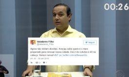 """""""Agora Aracaju sabe quem é o mais preparado"""", diz Valadares após debate"""