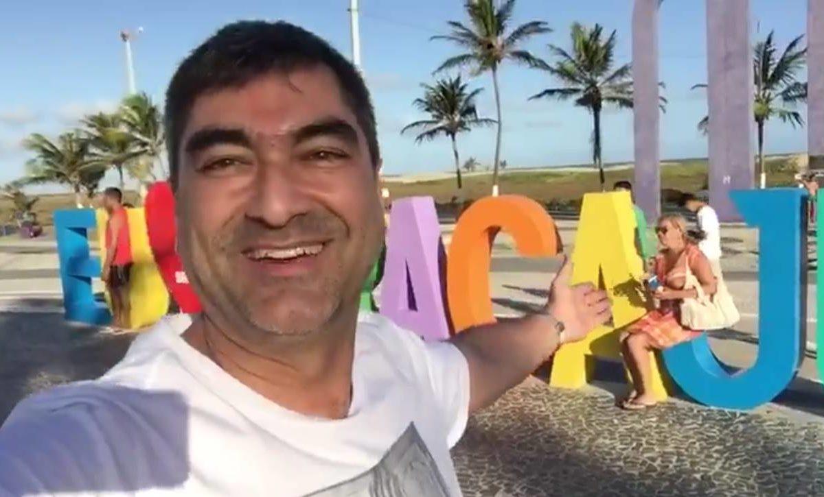 """Zeca Camargo grava reportagem em Sergipe; """"Eu amo Aracaju"""""""