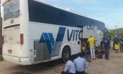 Bandidos assaltam ônibus da Quadrilha Unidos em Asa Branca