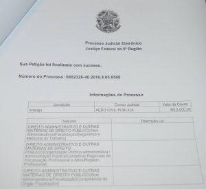 Ação movida contra a Prefeitura de Aracaju